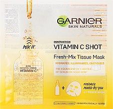Parfums et Produits cosmétiques Masque en tissu à la vitamine C pour visage - Garnier SkinActive Fresh-Mix Sheet Mask with Vitamin C