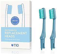 Parfums et Produits cosmétiques Têtes de remplacement pour brosse à dents, médium, bleu - TIO Toothbrush Medium