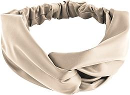 Parfums et Produits cosmétiques Bandeau pour cheveux, beige, Faux Leather Twist - MakeUp Hair Accessories