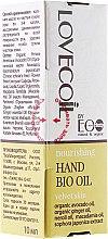 Parfums et Produits cosmétiques Huile à l'extrait de néroli et huile d'avocat pour mains - ECO Laboratorie Lovecoil Hand Bio Oil Velvet Skin
