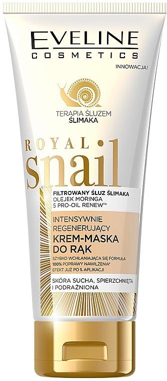 Masque crème régénérant au filtrat de bave d'escargot pour mains - Eveline Cosmetics Royal Snai