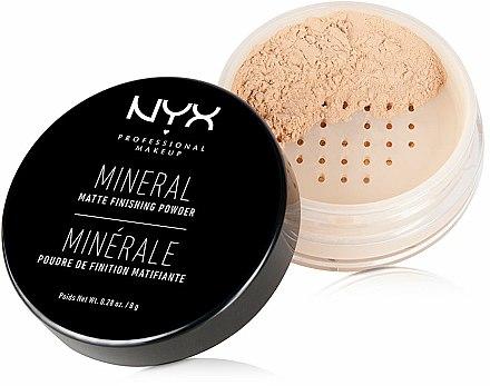 Poudre minérale de finition matifiante pour visage - NYX Professional Makeup Mineral Matte Finishing Powder