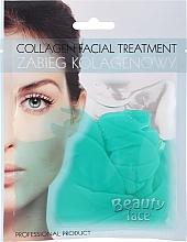 Parfums et Produits cosmétiques Masque tissu hydrogel au thé vert et vitamines pour visage - Beauty Face Collagen Hydrogel Mask