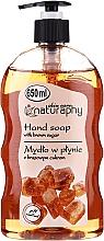 Parfums et Produits cosmétiques Savon liquide au sucre de canne pour mains - Bluxcosmetics Naturaphy Hand Soap With Brown Sugar