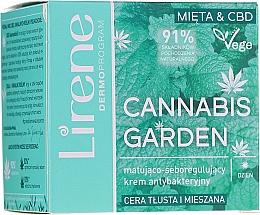 Parfums et Produits cosmétiques Crème de jour séborégulatrice à l'huile de graines de tournesol - Lirene Cannabis Garden Mint & CBD