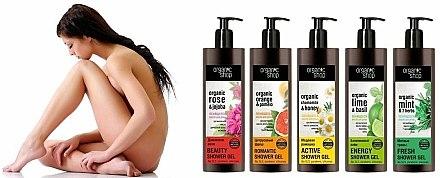 Huile de douche moussante à la rose de Damas - Organic shop Body Foam Oil Organic Rose and Jojoba — Photo N3