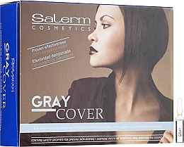Parfums et Produits cosmétiques Préparation pour coloration en ampoules, pour cheveux gris - Salerm Cubre Canas