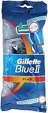 Parfums et Produits cosmétiques Lot de 5 rasoirs jetables - Gillette Blue II Plus