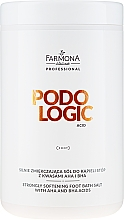 Parfums et Produits cosmétiques Sels de bain aux acides AHA et BHA pour pieds - Farmona Podologic Acid Strongly Softening Foot Bath Salt