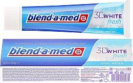Parfums et Produits cosmétiques Dentifrice blanchissant - Blend-a-med 3D White Fresh Cool Water Toothpaste