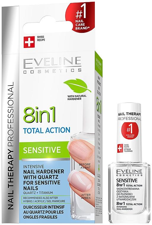 Revitalisant concentré au quartz pour ongles sensibles - Eveline Cosmetics Nail Therapy Professional Sensitive