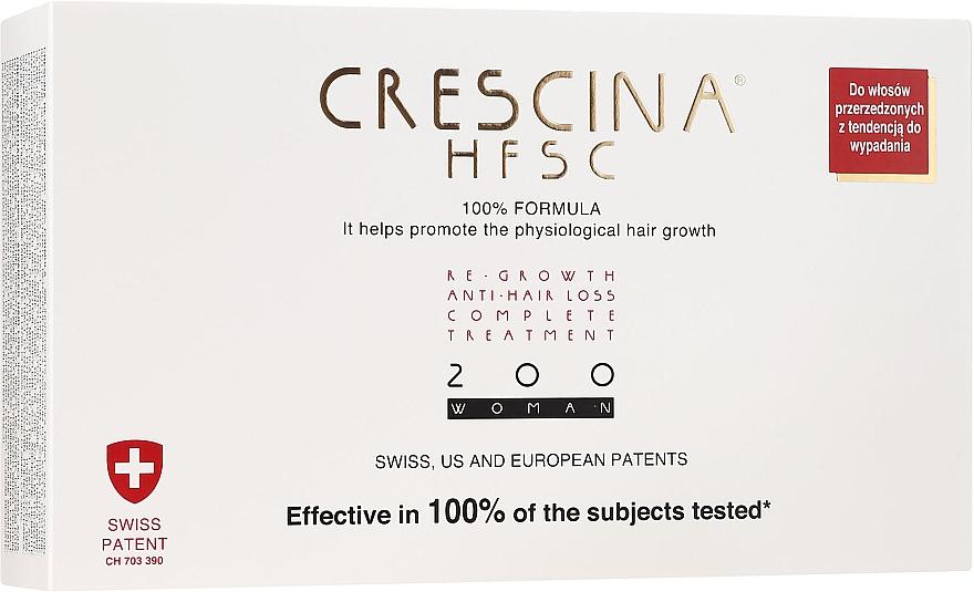 Traitement anti-chute 200, 20 ampoules - Crescina Re-Growth HFSC Formula 100%