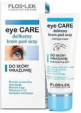 Crème à l'extrait d'algues et vitamines pour contour des yeux - Floslek Eye Care Mild Eye Cream For Sensitive Skin — Photo N1