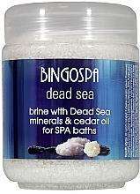 Parfums et Produits cosmétiques Sels de bain aux minéraux de la mer Morte et huile de cèdre - BingoSpa Brine With Dead Sea Minerals For SPA Baths With Cedar And Baobab Seed Oil