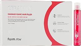 Parfums et Produits cosmétiques Remplissage réparateur aux céramides pour cheveux - FarmStay Ceramide Damage Clinic Hair Filler