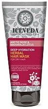 Parfums et Produits cosmétiques Masque à la rose arctique et lotus pour cheveux - Natura Siberica Iceveda Arctic Rose&Maharaja Lotus Deep Hydration Herbal Hair Mask