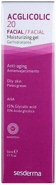 Gel-crème à l'acide glycolique 15% pour visage - SesDerma Laboratories Acglicolic 20 Moisturizing Cream Gel — Photo N1
