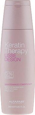 Crème d'entretien à la kératine pour cheveux - Alfaparf Lisse Design Keratin Therapy Maintenance Conditioner