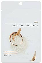 Parfums et Produits cosmétiques Masque tissu à l'extrait de riz pour visage - Eunyul Daily Care Mask Sheet Rice