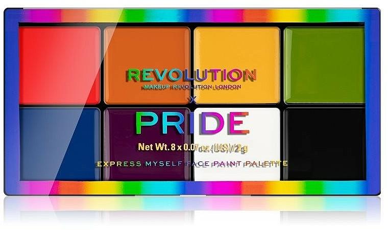 Palette de maquillage - Makeup Revolution X Pride Express Myself Face Paint Palette