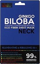 Parfums et Produits cosmétiques Masque tissu au ginkgo pour cou - Beauty Face IST Rejuvenating & Rebuilding Neck Mask Ginkgo Biloba