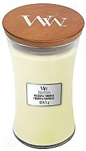 Parfums et Produits cosmétiques Bougie parfumée avec mèche en bois, Figuier et Tubéreuse - WoodWick Hourglass Candle Fig Leaf and Tuberose