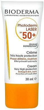 Crème solaire pour peaux abîmées - Bioderma Photoderm Laser SPF 50+ Cream Very High Protection — Photo N2