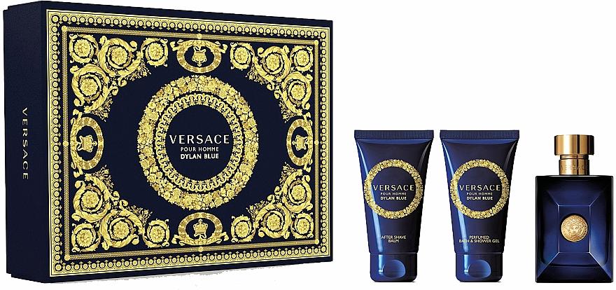 Versace Dylan Blue Pour Homme - Coffret (eau de toilette/50ml + gel bain et douche/50ml + baume après-rasage/50ml)
