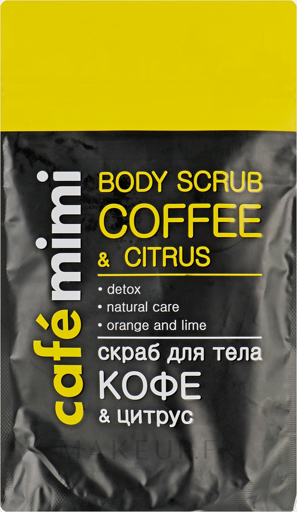Gommage pour corps, Café et agrumes - Cafe Mimi Body Scub Coffee & Citrus — Photo 150 g