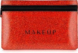 Parfums et Produits cosmétiques Trousse de toilette en silicone, Glitter Pouch, rouge - MakeUp