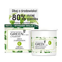 Parfums et Produits cosmétiques Crème de nuit nourrissante à l'extrait de petits pois - Floslek Green For Skin Nourishing Night Cream Refill