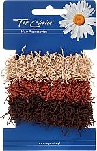 Parfums et Produits cosmétiques Élastiques à cheveux, 3 pcs, marrons - Top Choice