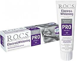 Parfums et Produits cosmétiques Dentifrice blanchissant pour brosse à dents électrique - R.O.C.S. Pro Electro & Whitening Mild Mint