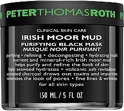 Parfums et Produits cosmétiques Masque noir au charbon actif pour visage - Peter Thomas Roth Irish Moor Mud Purifying Black Mask