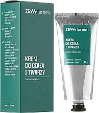Parfums et Produits cosmétiques Crème au champignon chaga pour visage et corps - Zew For Men Face And Body Cream