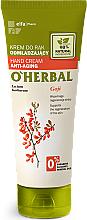 Parfums et Produits cosmétiques Crème anti-âge à l'extait de baies de goji pour mains - O'Herbal Rejuvenating Hand Cream With Goji Berry Extract