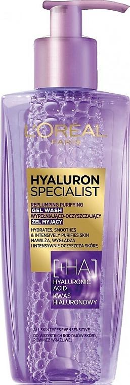 Gel nettoyant à l'acide hyaluronique pour visage - L'Oreal Paris Hyaluron Expert