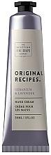 Parfums et Produits cosmétiques Crème pour mains, Géranium et Lavande - Scottish Fine Soaps Original Recipes Geranium & Lavender Hand Cream