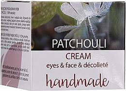 Parfums et Produits cosmétiques Crème à l'huile essentielle de patchouli pour visage et décolleté - Hristina Cosmetics Handmade Patchouli Eyes & Face & Decollete Cream