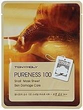 Parfums et Produits cosmétiques Masque tissu à l'extrait de bave d'escargot pour visage - Tony Moly Pureness 100 Snail Mask Sheet