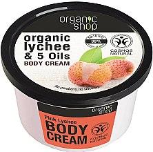 Parfums et Produits cosmétiques Crème à l'extrait de litchi et huiles biologiques pour corps - Organic Shop Body Cream Organic Lichee & Oils