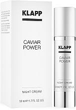 Parfums et Produits cosmétiques Crème de nuit à l'huile d'amande douce - KlappCaviar Power Night Cream