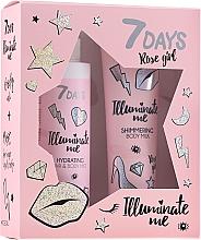 Parfums et Produits cosmétiques 7 Days Illuminate Me Rose Girl - Set (lait pour corps/150ml + brume pour corps et cheveux/180ml)