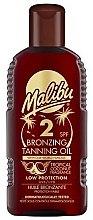 Parfums et Produits cosmétiques Huile bronzante protection faible - Malibu Bronzing Tanning Oil SPF 2