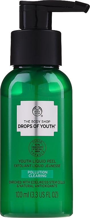 Exfoliant liquide aux cellules souches d'edelweiss pour visage - The Body Shop Drops of Youth