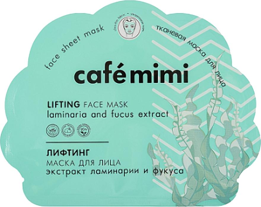 Masque tissu à l'extrait de fucus pour visage - Cafe Mimi Lifting Face Mask Laminaria and Fucus Extract