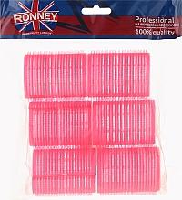 Parfums et Produits cosmétiques Bigoudis velcro 44/63, rose - Ronney Professional Velcro Roller