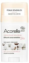 Parfums et Produits cosmétiques Déodorant stick pour peaux sensibles - Acorelle Deodorant Stick Gel Cotton Powder