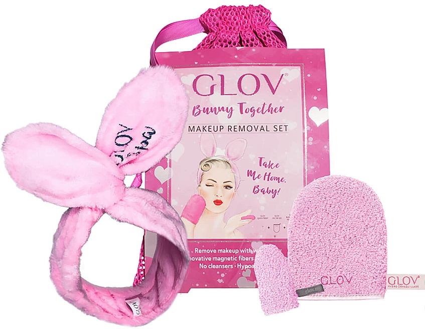 Glov Spa Bunny Together - Set (gant de bain + mini gant de bain + bandeau + trousse)