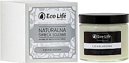 Parfums et Produits cosmétiques Bougie parfumée en cire de soja, Chocolat - Eco Life Candles